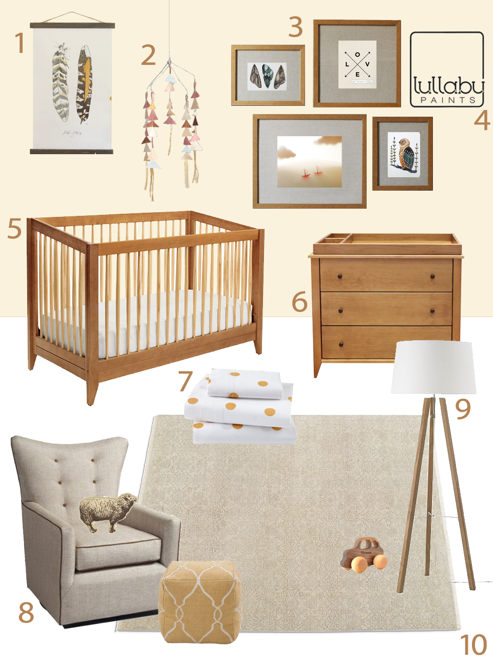 neutral colors for baby nursery - lullaby paints