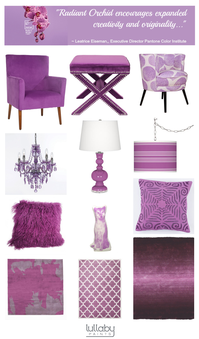 radiant orchid nursery decor inspiration lullaby paints