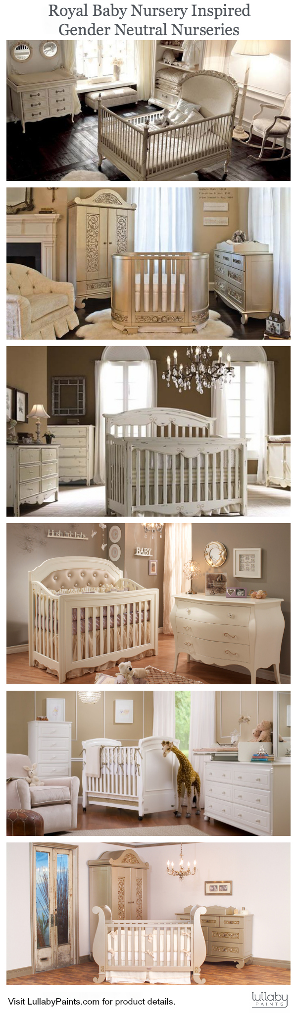 gender neutral, royal baby inspired nursery design - lullaby paints