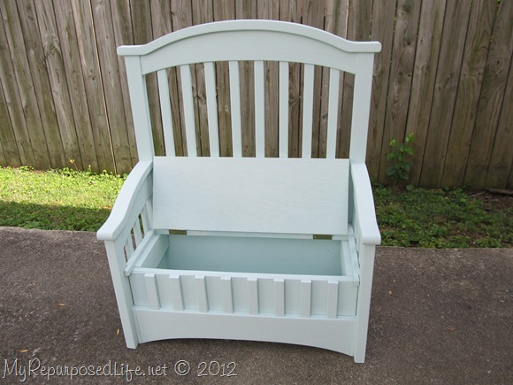 Baby Crib turned toy box