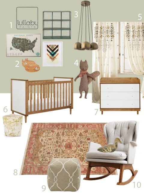 Sage Green Nursery Design Inspiration.