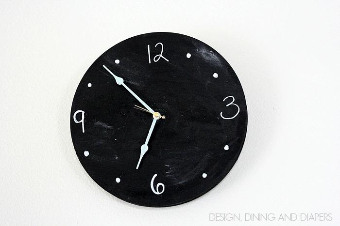 Simple DIY Chalkboard Clock for Baby Nursery Lullaby Paints