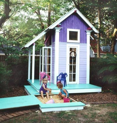 Painting a Child's Playhouse Lullaby Paints