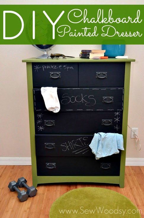 DIY Chalkboard Painted Dresser