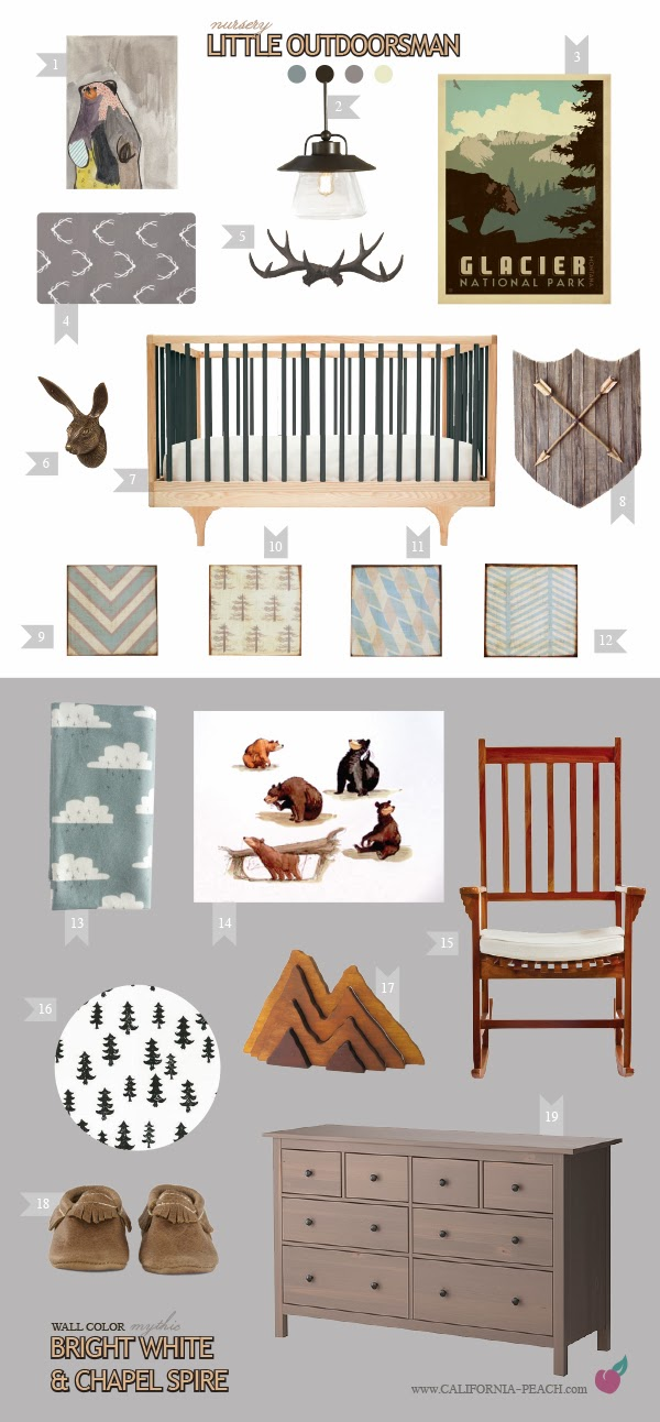 most popular nursery mood boards - lullaby paints