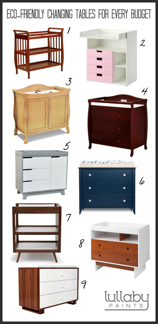 eco-friendly changing tables - lullaby paints