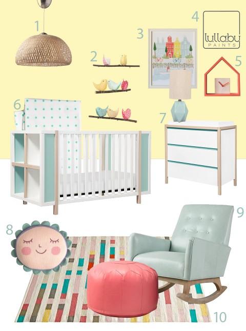 modern yellow nursery - lullaby paints