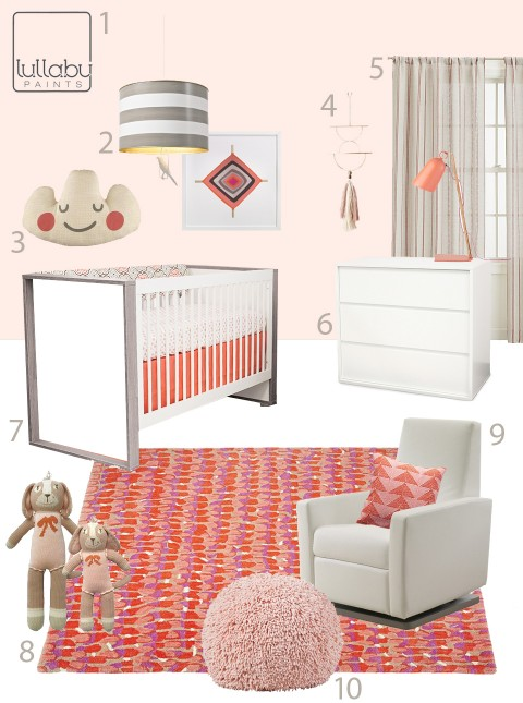 modern pink nursery design inspiration - lullaby paints