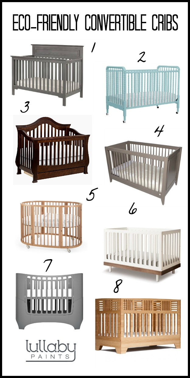 eco-friendly convertible cribs - lullaby paints