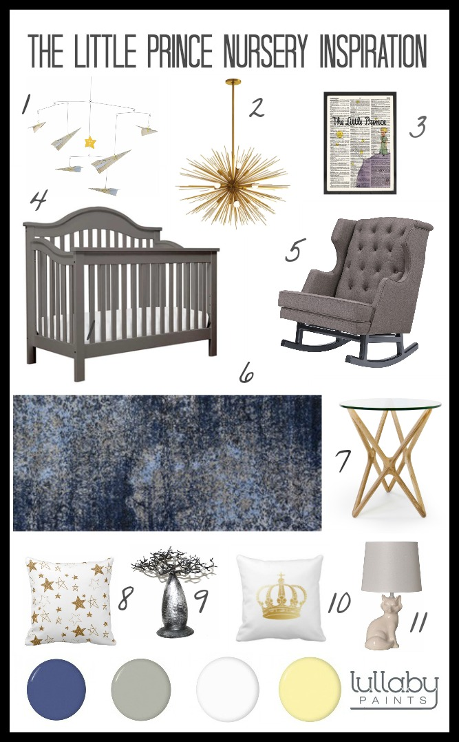 storybook nursery design - the little prince - lullaby paints
