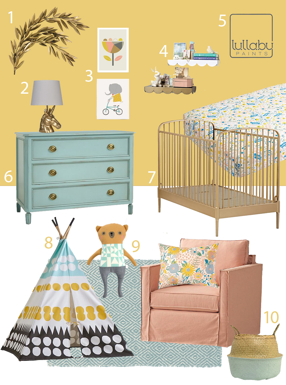 gorgeous golden yellow nursery inspiration lullaby paints